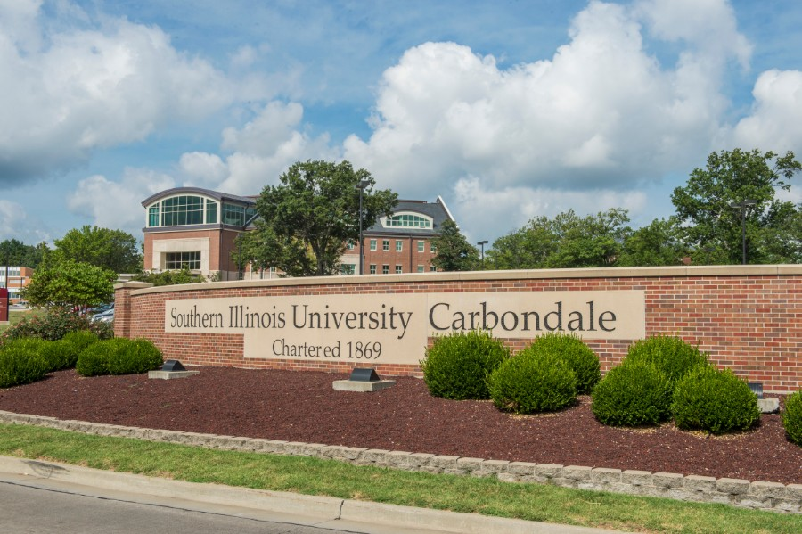 SIU main campus entrance sign